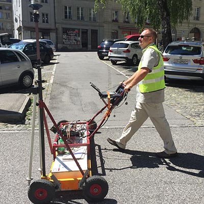 Multi-channel GPR instrument allow for quick 3D acquistion