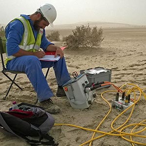 Our Syscal Pro resistivity-meter is a very tough equipment able to work in harsh environment