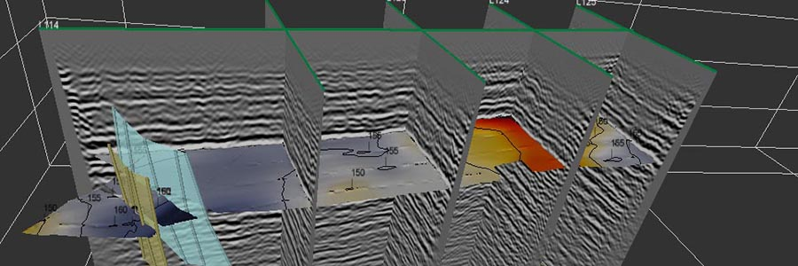 3D visualization of crossing profiles highlights horizons and faults